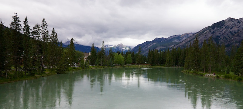 Bow River from the Bridge in Banff