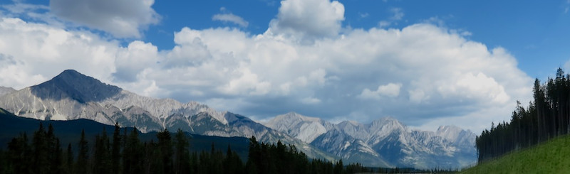 panorama from the Trans-Canada Highway