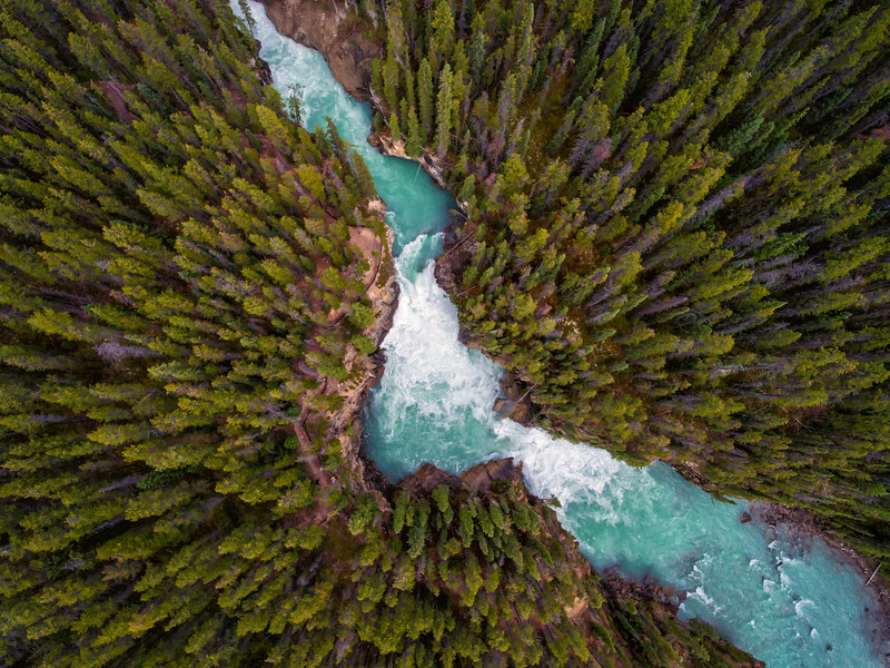 Sunwapta Falls from Above