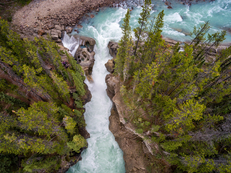 Lower Sunwapta Falls from Above