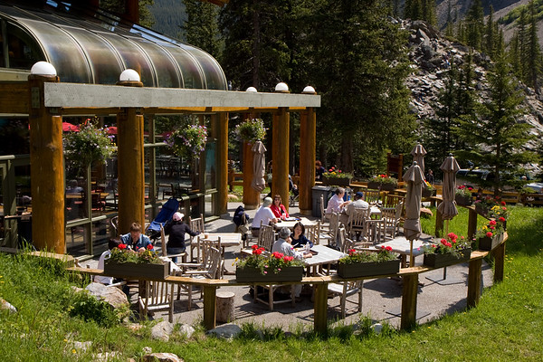 This is the patio at the Moraine Lake Lodge. We sat there for about an hour with a coffee just admiring everything around us. Wish we could've spent the entire day, but it was on to more sightseeing (had to capitalize on our 2 full days in the area).