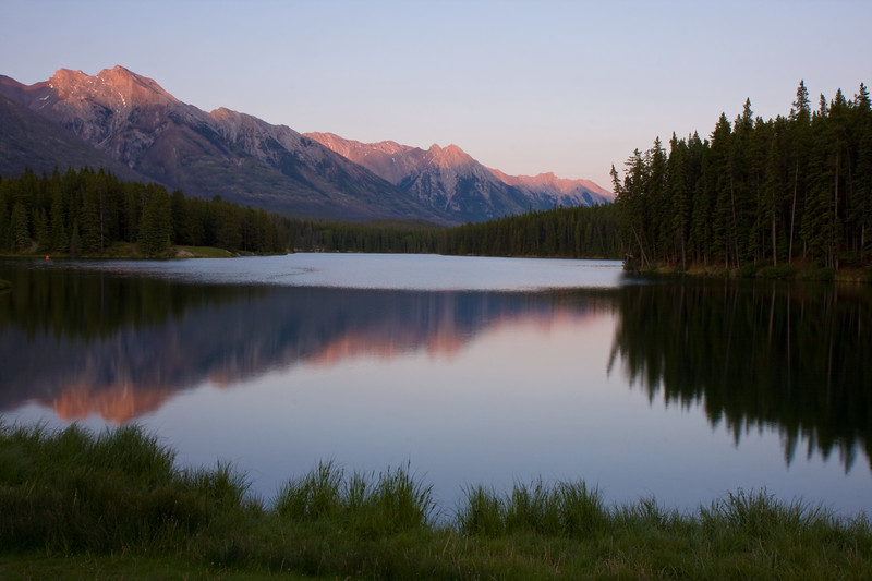 Johnson Lake just outside of Banff at sunset