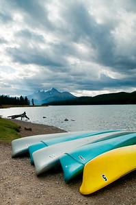 Maligne Lake, Kayaks