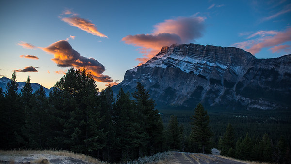 Mount Rundle at Sunrise