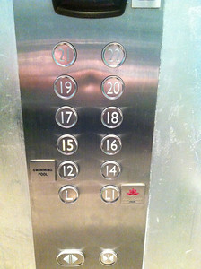 I have no idea why the floors start at 12. There isn't anything between L1 and 12. Note, like most hotels, no 13th floor.