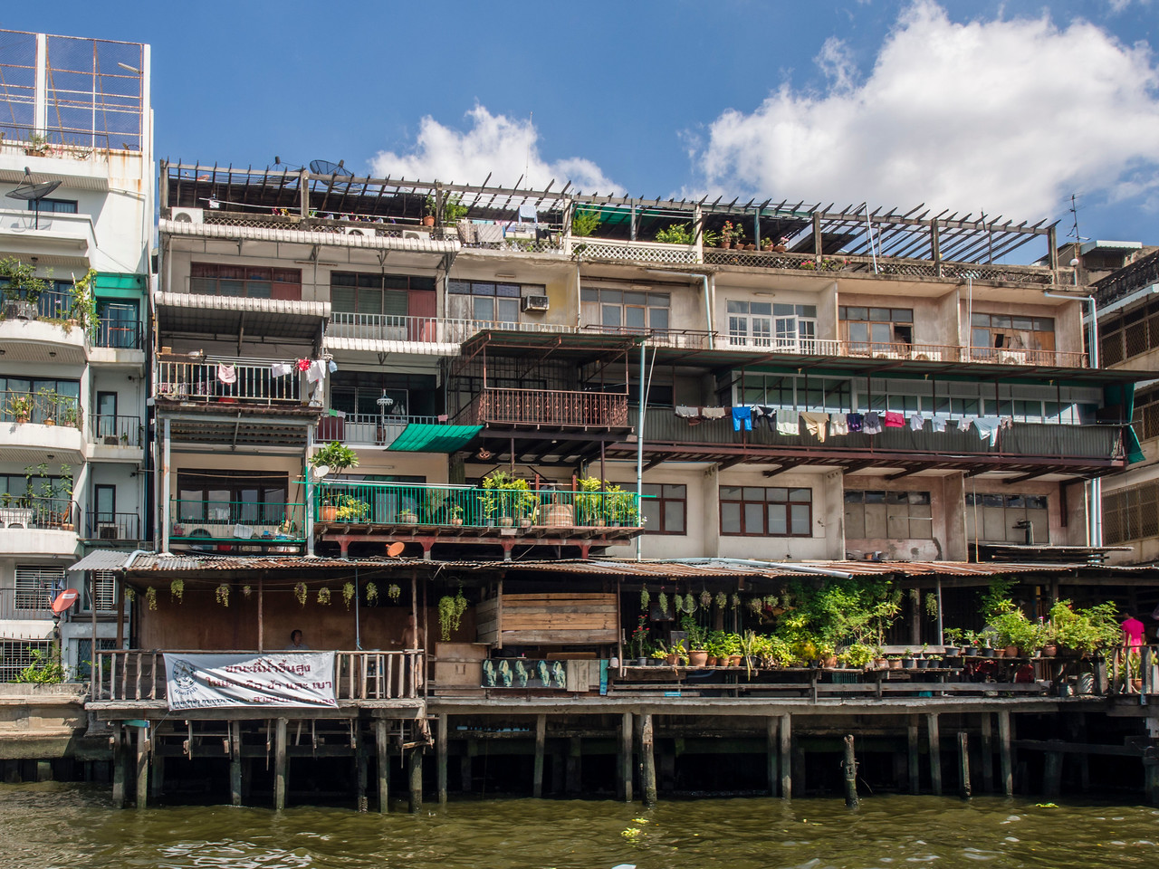 Apartments on the Chao Phraya River, Bangkok
