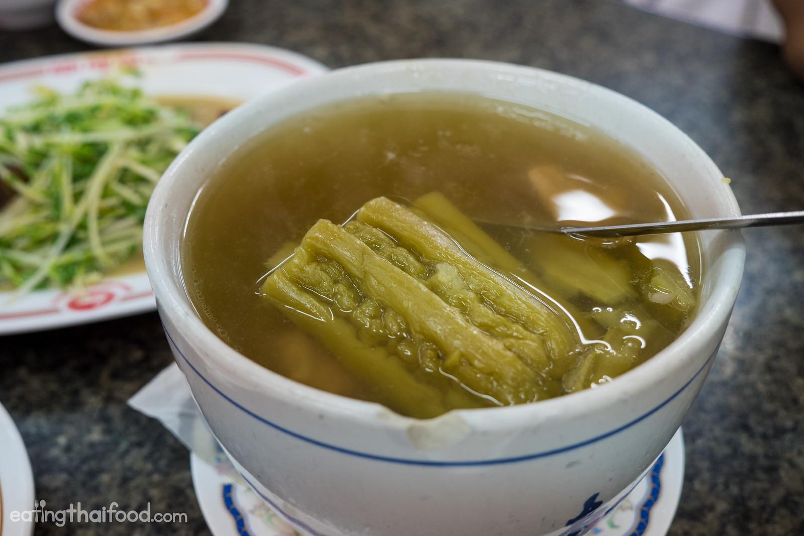 Bitter melon soup (น้ำแกงมะระตุ๋น)