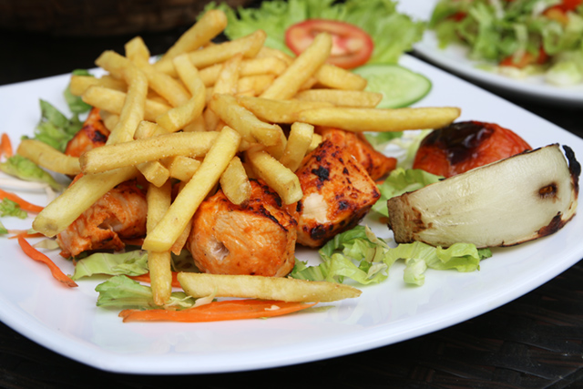 Chicken and fries!