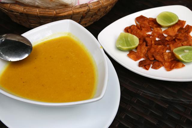 Began with lentil soup