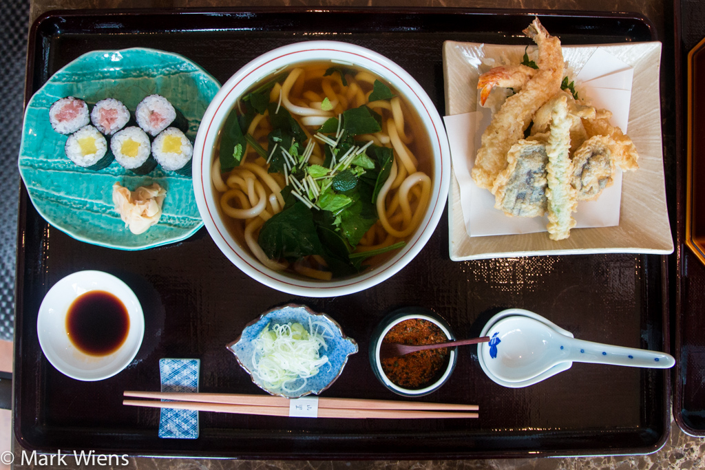 Udon lunch set