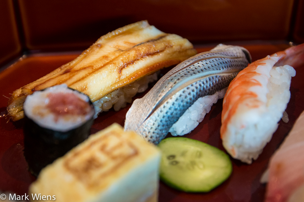 Nigiri sushi pieces