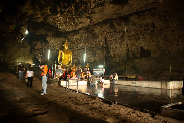 This cave temple lies just behind the tracks of the Death Railway.