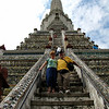 Diane and Phil at Wat Arun - Bangkok, Thailand