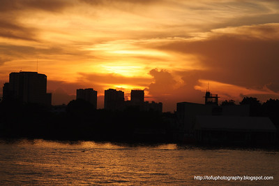 Dinner by the Chao Praya River - June 2011