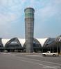 The control tower at Suvarnabhumi Airport in Bangkok, Thailand in January 2012