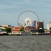 Asiatique with its Ferris Wheel the Chao Praya River in Bangkok, Thailand in June 2016