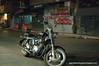 Motorbike in Silom, Bangkok, Thailand, in December 2009