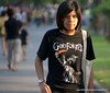 God Frobid t-shirt and a picture of the Statue of Liberty at Lumphini Park, Bangkok, Thailand in December 2009. I think this is a refence to 9/11 and the hope something similar never takes place atgain.