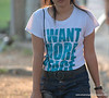 I want more peace t-shirt at Lumphini Park, Bangkok, Thailand in December 2009