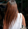 Woman with lovely hair on Silom Road, Silom, Bangkok, Thailand in March 2010