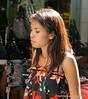 Pretty woman on Silom Road, Silom, Bangkok, Thailand in March 2010