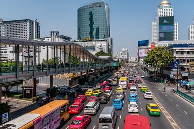 Traffic jam in Bangkok.