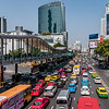 Traffic jam in Bangkok.
