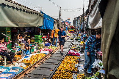 Maeklong Railway Market.