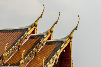 Roof at Wat Pho Temple.