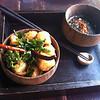 One of Anotai's signature dishes - Tofu Tempura with soy sauce and wasabi mayo