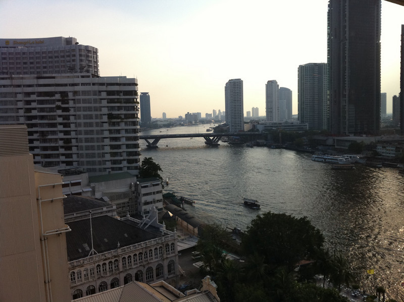 View from the 12th floor suite at Bangkok Mandarin Oriental