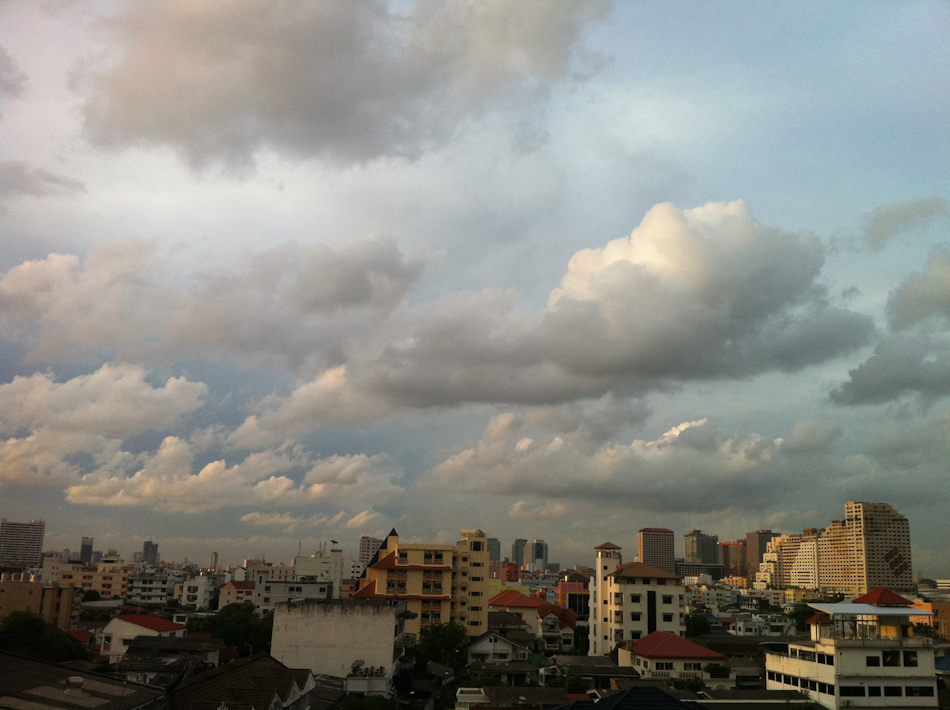Cloudscape from my Bangkok balcony