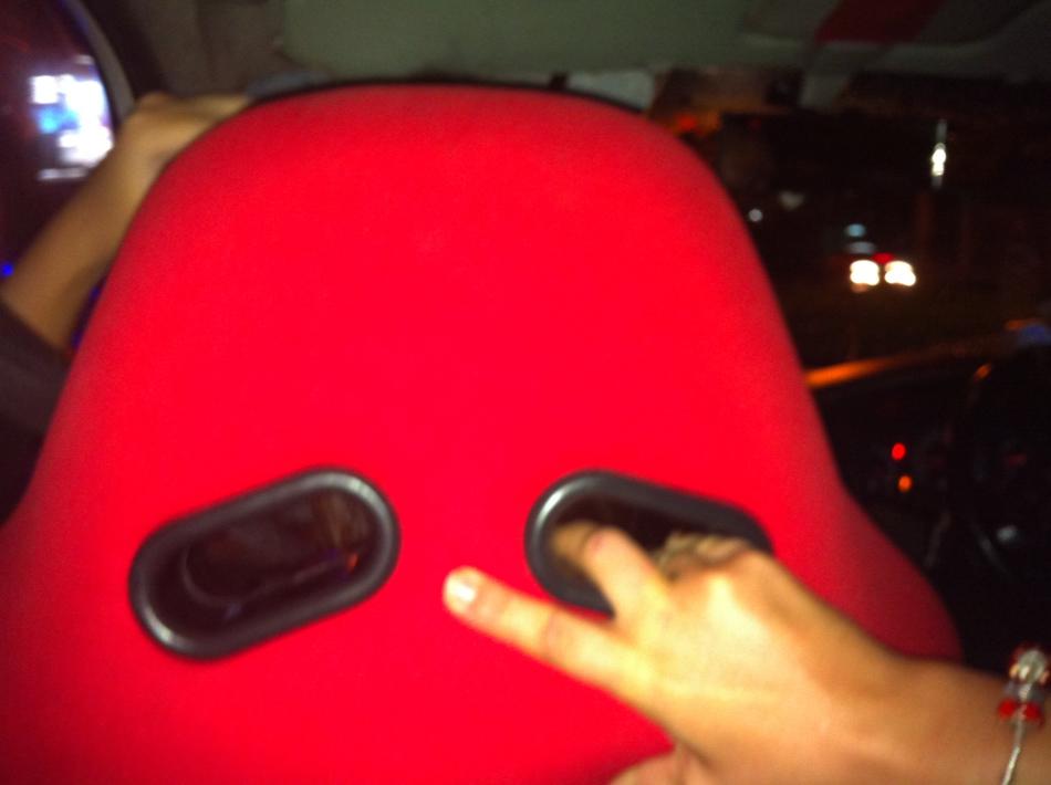 Bangkok Taxi Seat Comes With Handy Panic Handles