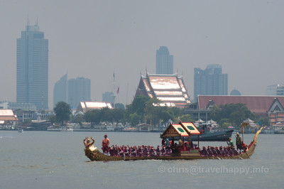 Khut Hern Het Barge, Royal Barges Procession, Bangkok, Thailand 6 November 2012