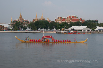 Thong Kwan Fa Barge, Royal Barges Procession, Bangkok, Thailand 6 November 2012