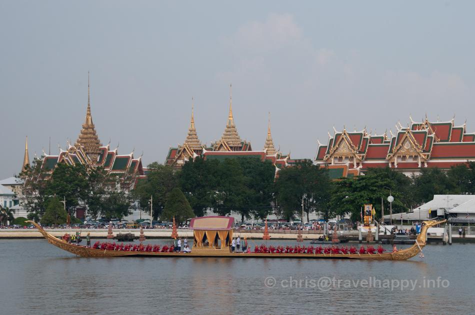 Royal Barge Suphannahong in front of the Grand Palace, Royal Barges Procession, Bangkok, Thailand 6 November 2012