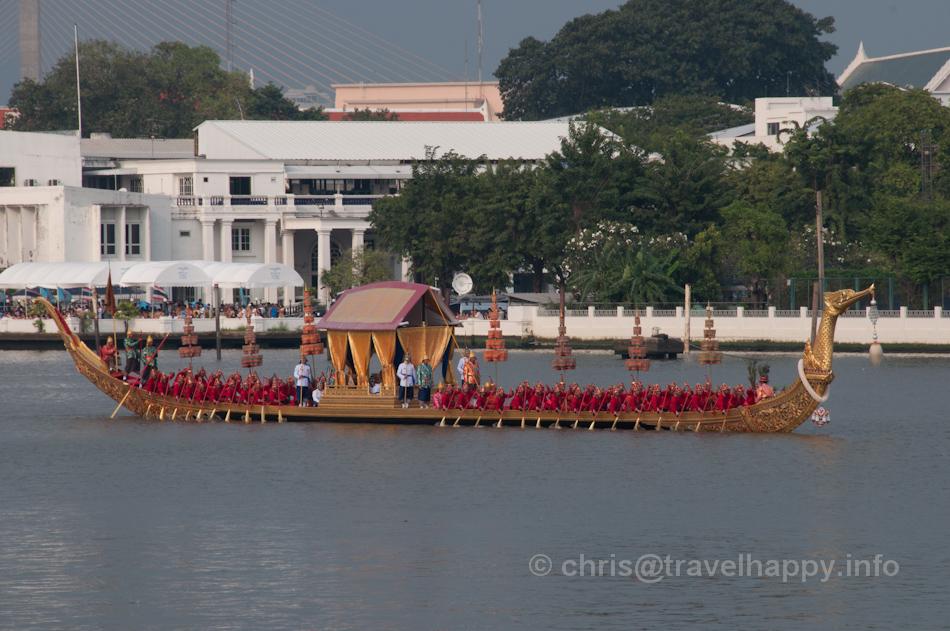 Royal Barge Suphannahong, Royal Barges Procession, Bangkok, Thailand 6 November 2012