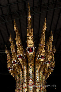 Detail of Anantanakkharat (Ananta, Kings Of The Serpents), Royal Barges Museum, Bangkok