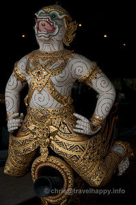 Detail of Hanuman, Krabi Class Barge,Royal Barges Museum, Bangkok