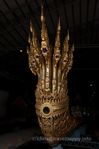 Detail of Anantanakkharat (Ananta, Kings Of The Serpents), Royal Barges Museum, Bangkok