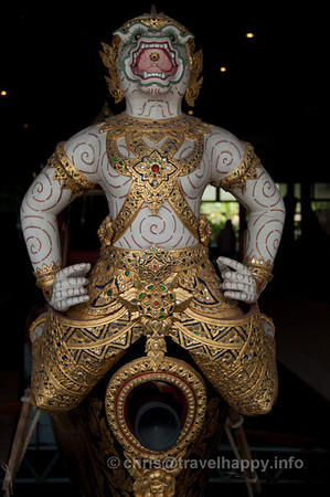 Detail of Hanuman, Krabi Class Barge, Royal Barges Museum, Bangkok