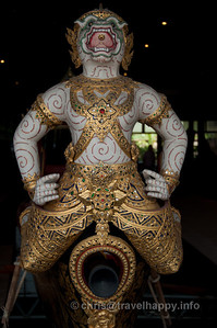 Detail of Hanuman, Krabi Class Barge, Royal Barges Museum, Bangkok