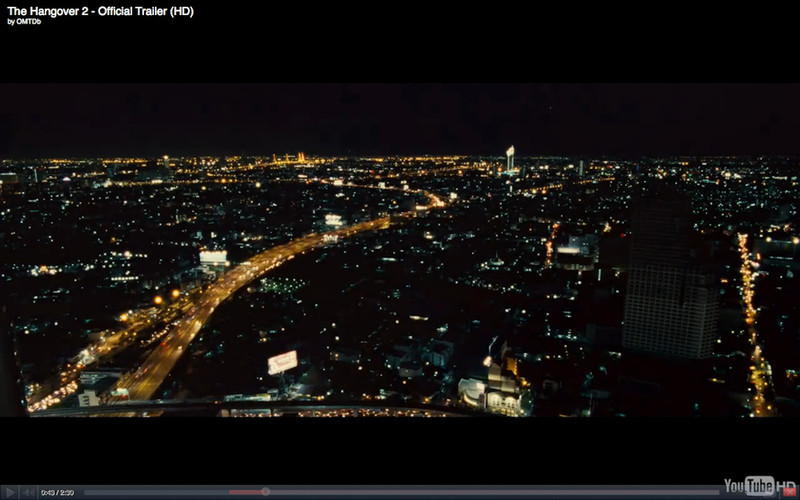 """Bangkok Night Skyline At Sunset - The Hangover Part 2. Get the full story at Travelhappy's <a href=""""http://travelhappy.info/thailand/the-hangover-part-2-visit-the-thailand-locations-from-the-movie/"""">Hangover Part 2 Bangkok Location Guide</a>"""