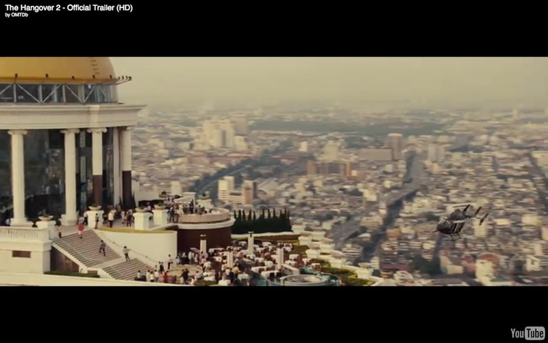 """Sky Bar and Sirrocco Restaurant, State Tower - The Hangover Part 2. Get the full story and location map at Travelhappy's <a href=""""http://travelhappy.info/thailand/the-hangover-part-2-visit-the-thailand-locations-from-the-movie/"""">Hangover Part 2 Bangkok Location Guide</a>"""