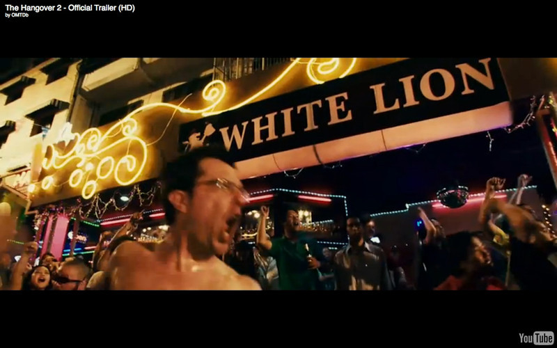 """The White Lion Go Go Bar, Sukhumvit 7/1 - The Hangover Part 2. Get the full story and location map at Travelhappy's <a href=""""http://travelhappy.info/thailand/the-hangover-part-2-visit-the-thailand-locations-from-the-movie/"""">Hangover Part 2 Bangkok Location Guide</a>"""