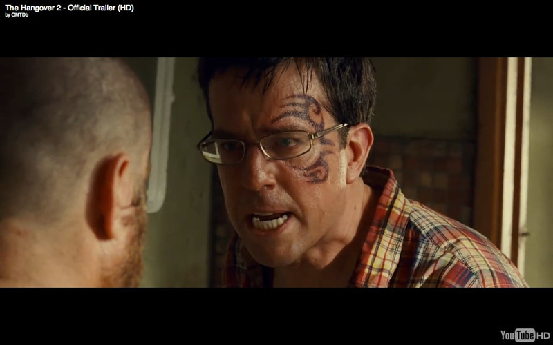 "Stu Gets A Mike Tyson Face Tattoo - The Hangover Part 2. Get the full story and location map at Travelhappy's <a href=""http://travelhappy.info/thailand/the-hangover-part-2-visit-the-thailand-locations-from-the-movie/"">Hangover Part 2 Bangkok Location Guide</a>"