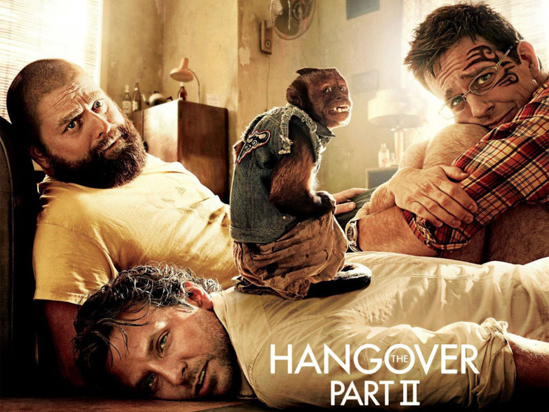"""Official Hangover Part 2 movie poster. Get the full story and location map at Travelhappy's <a href=""""http://travelhappy.info/thailand/the-hangover-part-2-visit-the-thailand-locations-from-the-movie/"""">Hangover Part 2 Bangkok Location Guide</a>"""