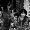 Women waiting for customers outside a brothel in Jessore.