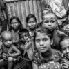 Children living in a slum in Mirpur in Dhaka.