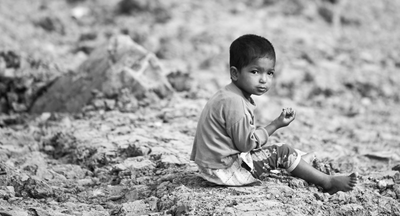 A boy in Hatirjheel, Dhaka.